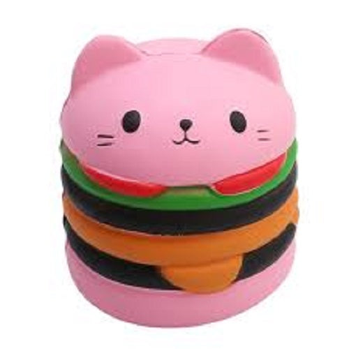 PINK CATBURGER SQUISHY TOY