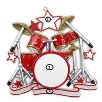 Drum Set Personalized Christmas Tree Ornament X-mass Band Drummer