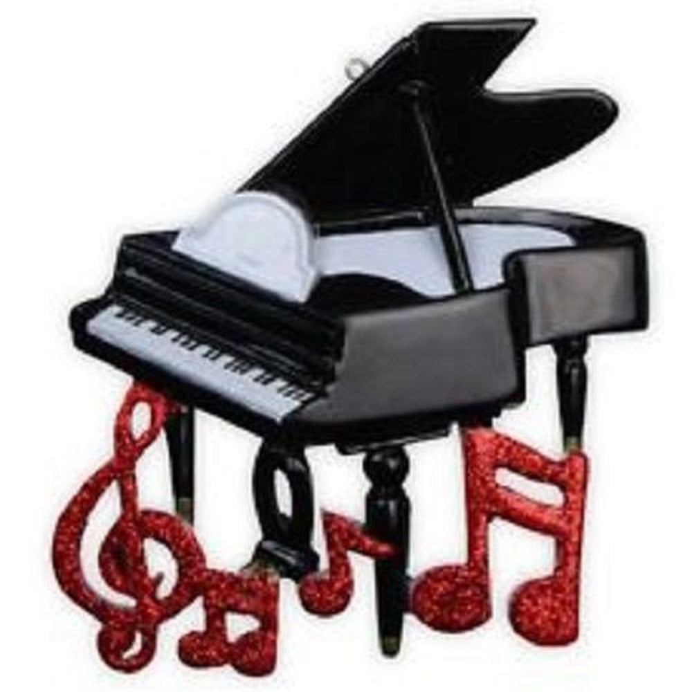 Piano Personalized Christmas Tree Ornament X-mass Band Orchestra Music Recital