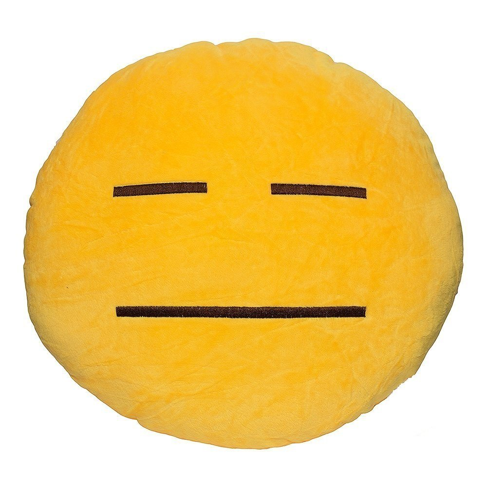"HELPLESS EMOJI PILLOW, 12"" INCHES"