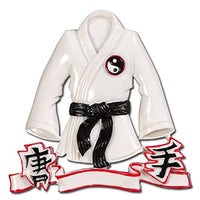 KARATE JACKET Sport Personalized Christmas Tree Ornament Xmas BLACK BELT