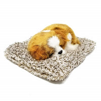 MINI PERFECT PETZZZ CAVALIER KING CHARLES PUPPY BREATHING SNORING HUGGABLE PET