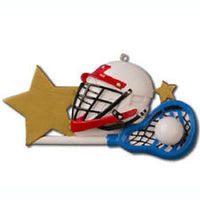 LACROSSE HELMET Personalized Christmas Tree Ornament X-mass NEW SPORTS