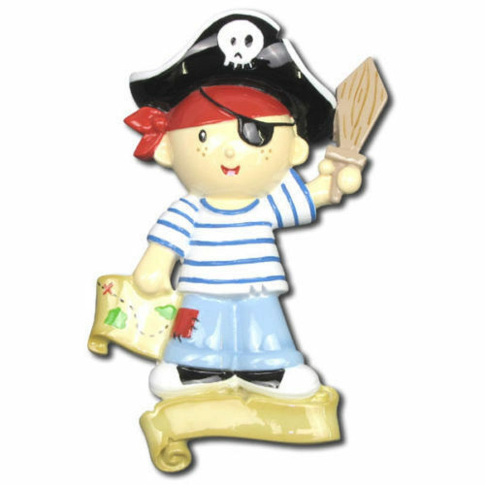 Pirate Boy Personalized Christmas Tree Ornament Xmas NEW
