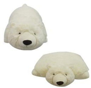 "SMALL POLAR BEAR PET PILLOW 11"" inches, My Friendly Plush Icy Toy"