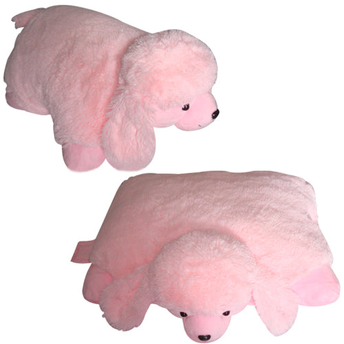 "LARGE POODLE PET PILLOW 18"" inches, My Puffy Pink Toy"