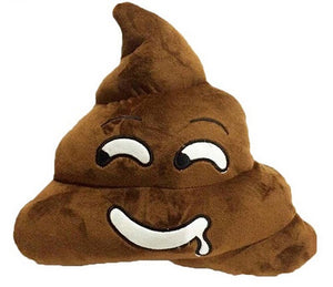 "SILLY SALIVA POOP EMOJI PILLOW, 13"" INCHES"