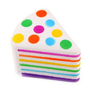 M&M CAKE SLICE SQUISHY TOY