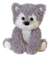 Fiesta Toys Scruffy Wolf 10'' Inches Fuzzy Folk Sitting My Plush Pet Pillow Folk
