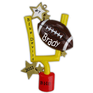 Football Personalized Christmas Tree Ornament Xmas NEW