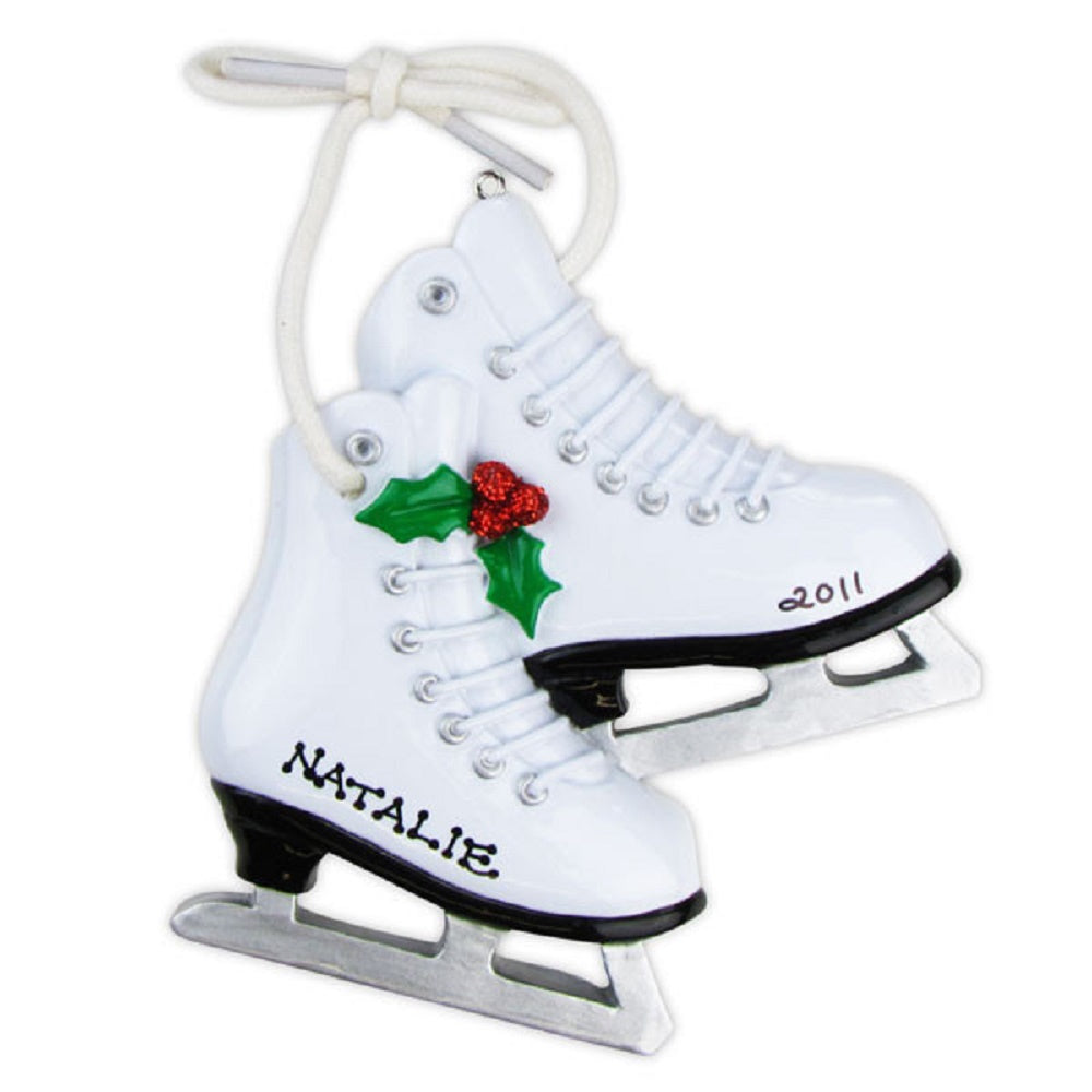 Figure Skates Personalized Christmas Tree Ornament X-mass NEW