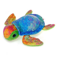 "SCRIBBLIEEZ BLUE SEA TURTLE BIG EYED 12""  FIESTA PLUSH TOYS"