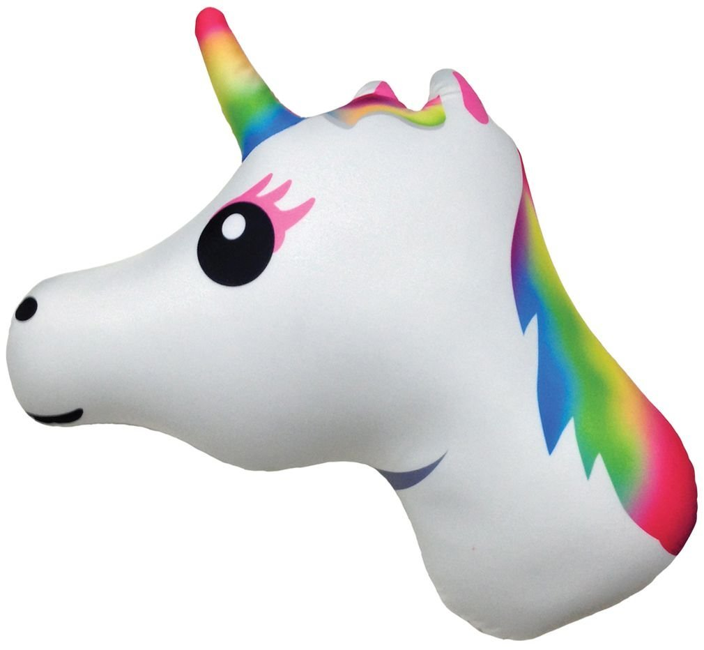 "UNICORN EMOJI PILLOW, 11"" INCHES"
