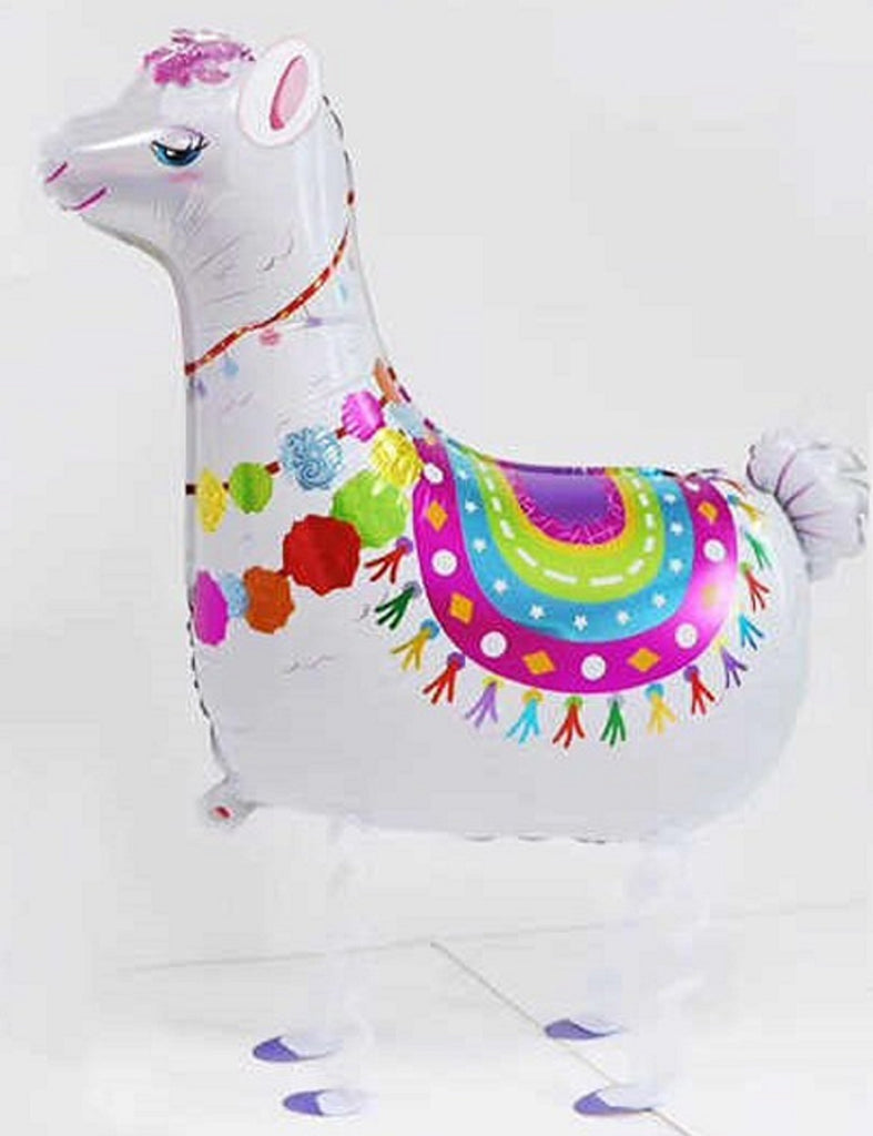 WHITE LAMA WALKING BALLOON ANIMAL