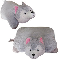 "LARGE HUSKY PET PILLOW 18"" inches, My Puppy Gray Dog"