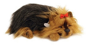 PERFECT PETZZZ YORKIE SOFT PLUSH PUPPY BREATHING HUGGABLE ANIMAL DOG