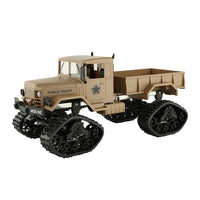 Tan/Cream Military Army Truck 1:16 4WD Tracked Wheels Crawler Off-Road Car RC