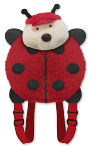 LADYBUG PLUSH ANIMAL BACKPACK, PET PILLOW, My Red Lady Bug, Miss