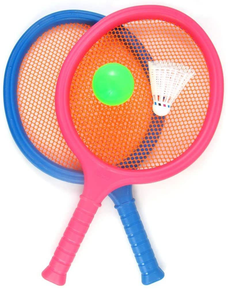 Badminton Set w/2 Rackets Ball & Birdie Tennis Sports Racquet Beach