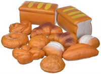 12 Piece Bread Set Pretend Life Sized Play Toy Food Playset for Kids