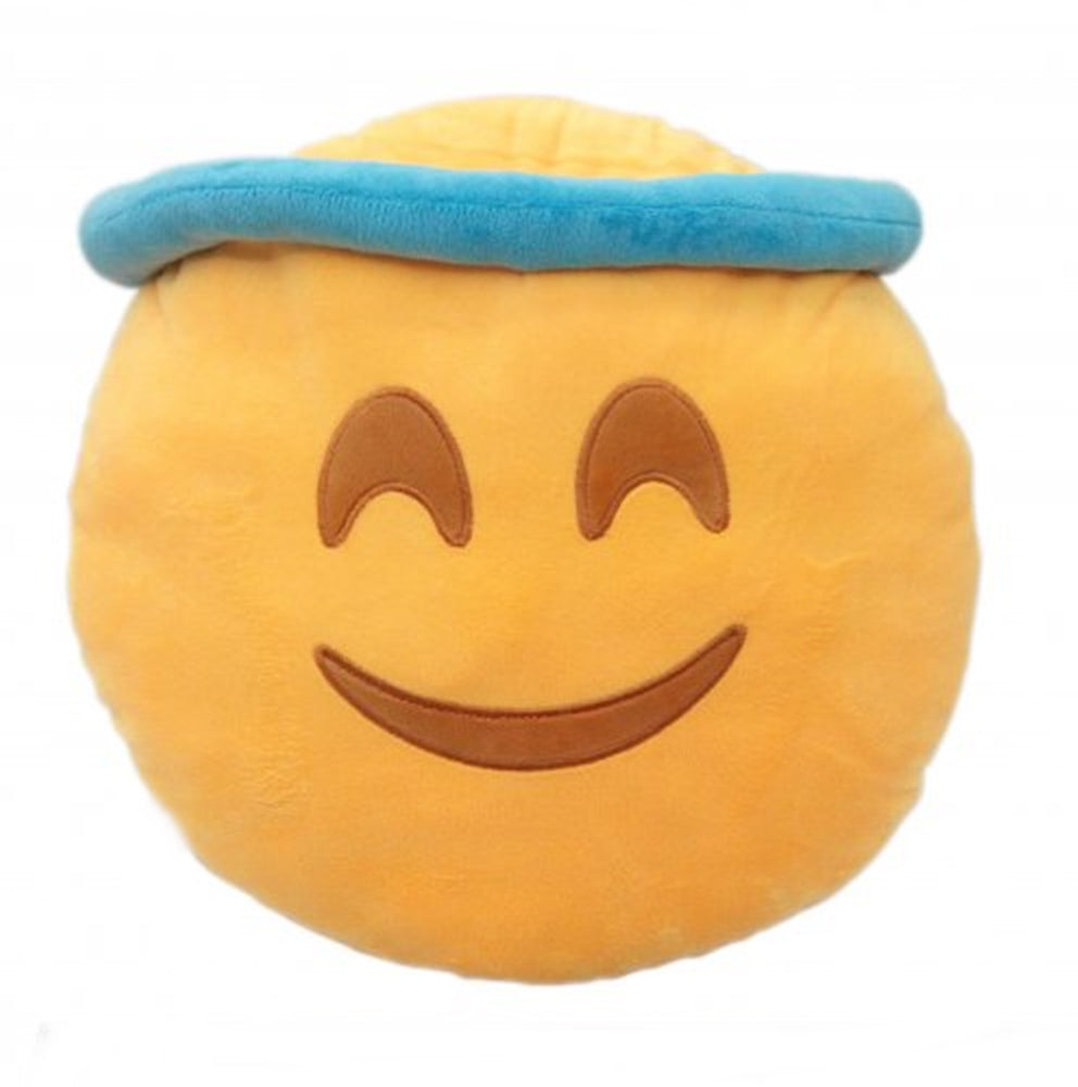 "ANGEL EMOTICON PLUSH PILLOW, 12"" INCHES"
