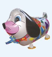SILVER COLORFUL DOG WALKING BALLOON ANIMAL