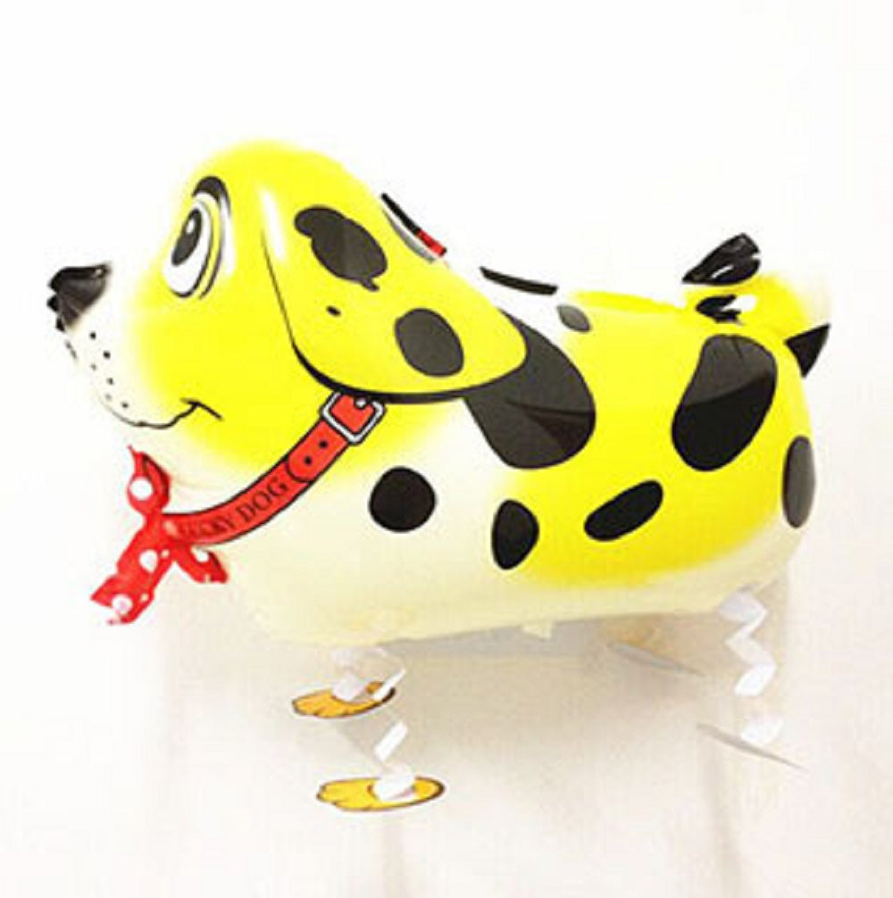 YELLOW DALMATIAN DOG WALKING BALLOON ANIMAL