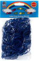 NAVY BLUE 600 Pcs Bag DIY LOOM RUBBER BAND REFILLS