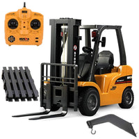 HuiNa Toys 1577 8 Channel 1/10 RC 2.4GA Metal Forklift Truck Crane RC Charging
