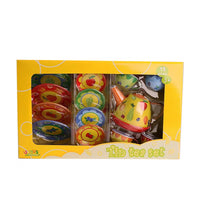 Fruit Metal Teapot & Cups Tin Tea Set Kitchen Play Toy Food Playset