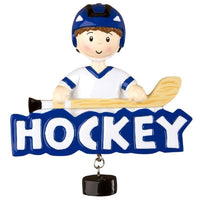 Hockey Boy Personalized Christmas Tree Ornament Xmas NEW