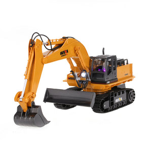 HuiNa Toys 1310 11 Channel 1/16RC 2.4GHz Excavator RC Charging Bulldozer w/680°