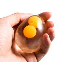 EGG ( TWO YOLKS ) SPLAT BALL (STRESS BALL, SQUEEZE BALL)