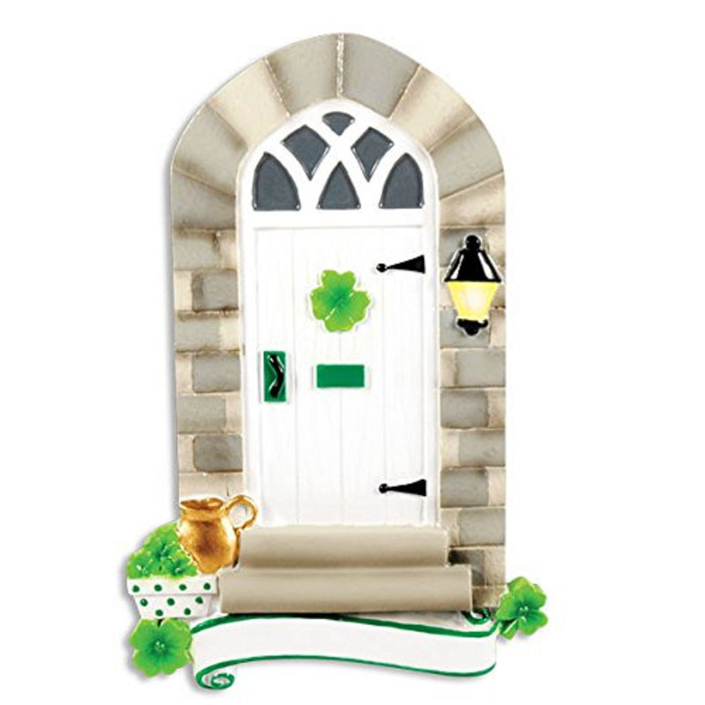 New Irish Door Personalized Christmas Tree Ornament X-mass Shamrock Noel House