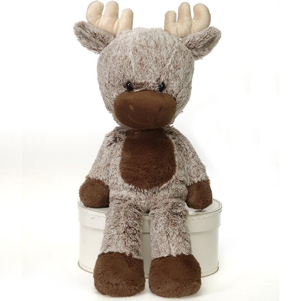Fuzzy Folk Sitting Dakota Bean Bag Moose 16'' FIESTA PLUSH TOYS