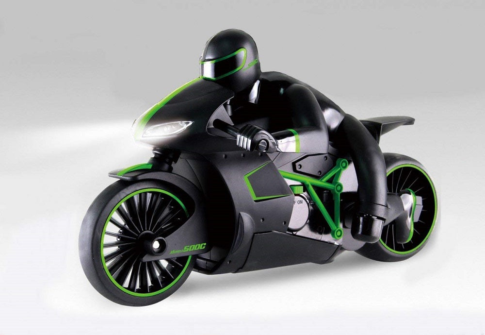 GREEN High-Speed Lightning R/C Remote Control Motorcycle 2.4GHz Rechargeable