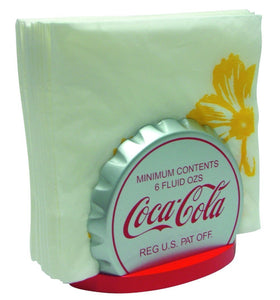 Coca-Cola Retro Lid Napkin Holder Fishtail Ice Coca Cola Bottle Wooden Red Drink