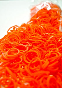 SCENTED ORANGE 600 Pcs Bag DIY LOOM RUBBER BAND REFILLS
