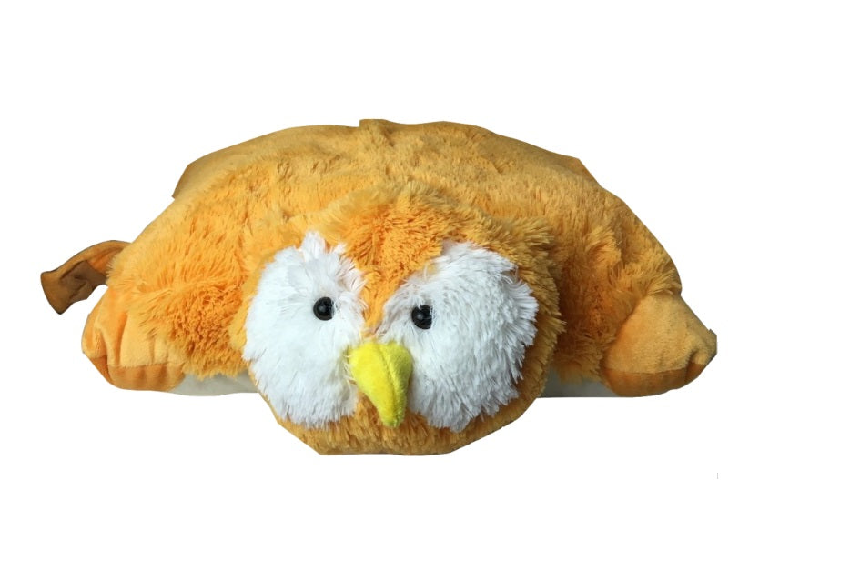 "SMALL OWL PET PILLOW 11"" inches, My Friendly Hoot  Toy"