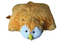"LARGE ORANGE OWL PET PILLOW 18"" inches, My Friendly Hoot  Toy"