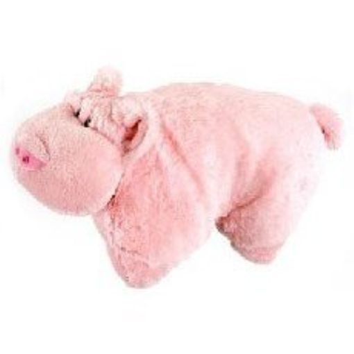 "LARGE PIG PET PILLOW 18"" inches, My Pink Wigly Piggy"