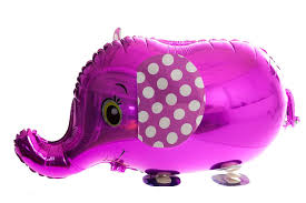 PINK ELEPHANT WALKING BALLOON ANIMAL