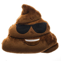 "COOL POOP EMOTICON PLUSH PILLOW, 13"" INCHES"