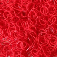SCENTED RED (STRAWBERRY) 600 Pcs Bag DIY LOOM RUBBER BAND REFILLS
