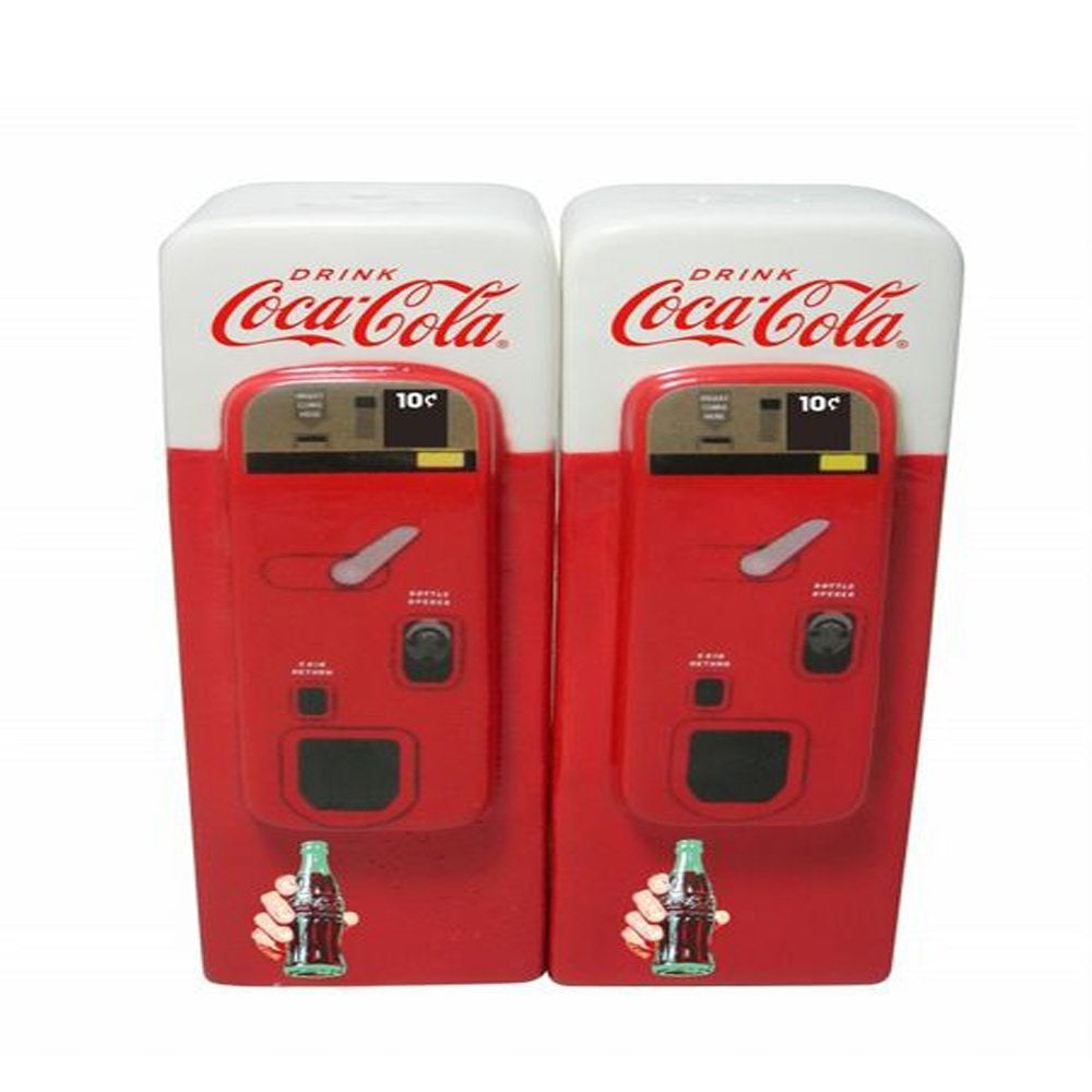 LICENSED Coca-Cola Vending Machine Salt & Pepper Shaker Fishtail Bottle Retro Arciform Ice