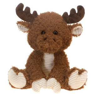 Fiesta Toys Scruffy Moose 10'' Reindeer Fuzzy Sitting My Plush Pet Pillow Animal