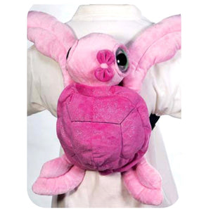 "EYED PINK SEA TURTLE BACKPACK 16""  FIESTA PLUSH TOYS"