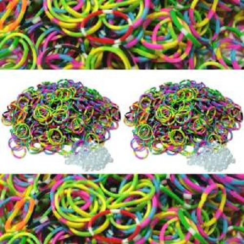 STRIPE / 3 COLOR TIE DYE 600 Pcs Bag DIY LOOM RUBBER BAND REFILLS