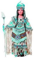 "Heirloom Native American 28"" Talisa Porcelain Doll Indian Tribe GOLDEN KEEPSAKES PRODUCTS"