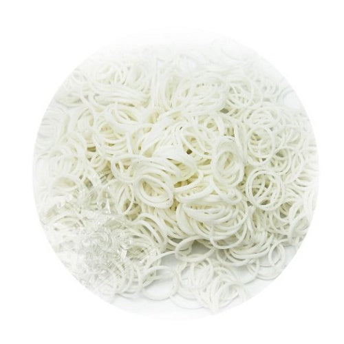 PLAIN WHITE 600 Pcs Bag DIY LOOM RUBBER BAND REFILLS